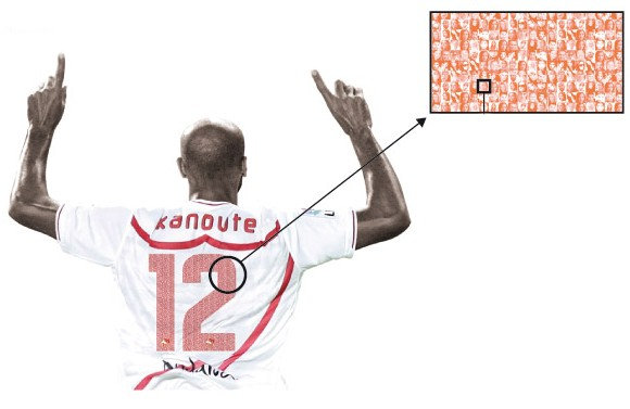 Sevilla fans paying to have tiny photo of themselves on players' shirts