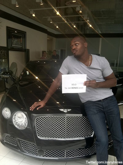 Jon Jones hits the big time with Bentley purchase