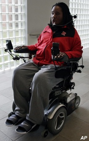 Video: Eric LeGrand leads Rutgers onto the field