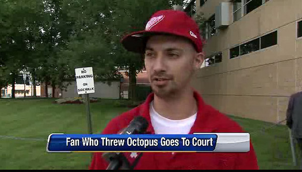Red Wings fan fined for octopus throw has case tossed