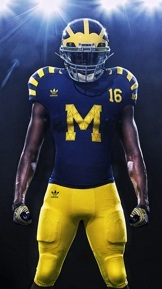 Michigan, Notre Dame 'retro' uniforms are finally unveiled