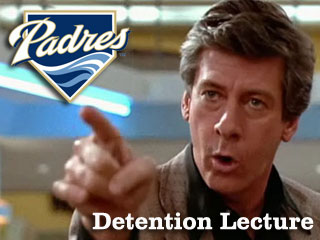 Detention Lecture: Your 2011 San Diego Padres
