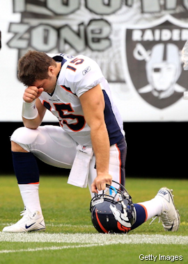 Introducing Tebowing. It's like planking, but dumber.