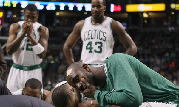 When Marquis Daniels went down, Kevin Garnett's was the only voice he heard