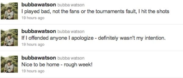 Bubba Watson apologizes for his actions at French Open