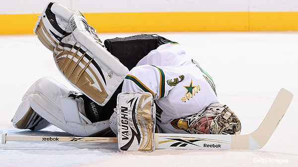 Kari Lehtonen's groin vs. the Dallas Stars' season