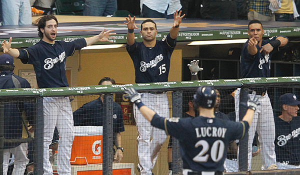 NLCS Game 1: Six-run fifth inning keys Brewers' 9-6 victory
