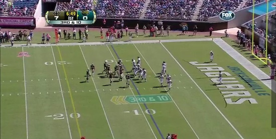 The yardage arrows are pointing the wrong way in Jacksonville