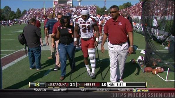 Knee sprain for Marcus Lattimore leaves South Carolina holding its breath