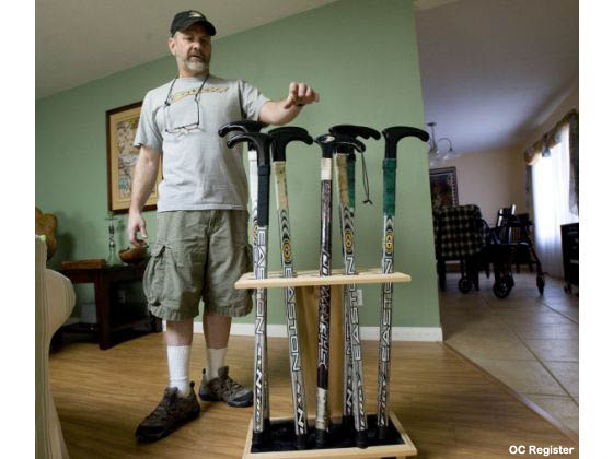 This guy turns broken hockey sticks into walking canes