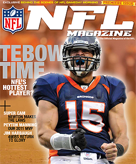 Tebow makes the debut cover of the NFL&#8217;s new magazine