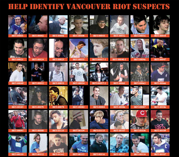 Vancouver police increase heat on riot suspects with wanted poster