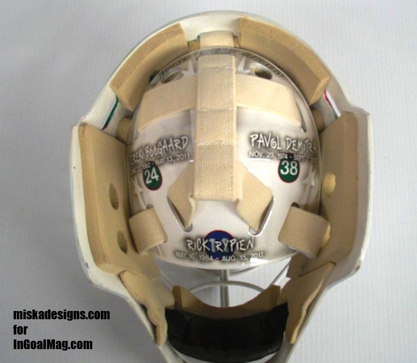 Wild goalie Josh Harding's mask honors hockey's tragedies