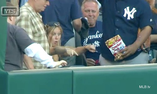 'Get off my friend!' Yankees fan gives Hunter grief on homer