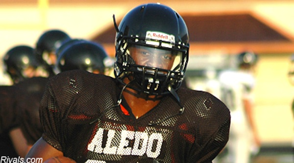Aledo running back Johnathan Gray in a practice
