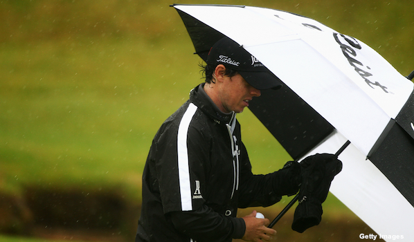 Rory McIlroy's Open Championship hopes go down the drain