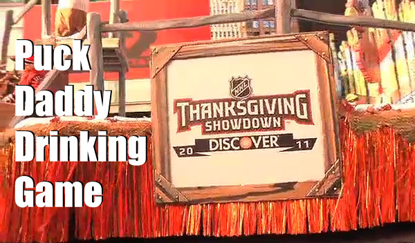 Your Unofficial NHL Thanksgiving Showdown Drinking Game