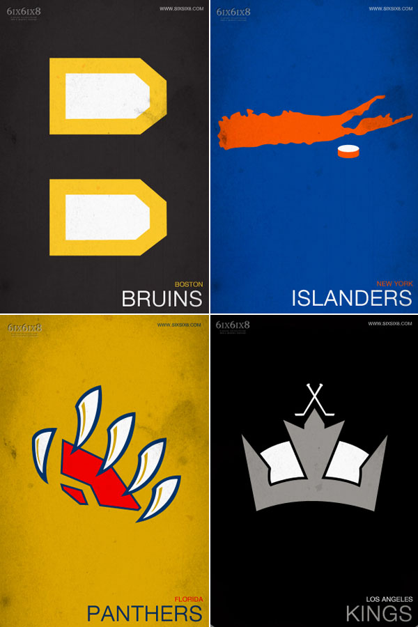 Less is more: Behold the splendor of Minimalist NHL Posters