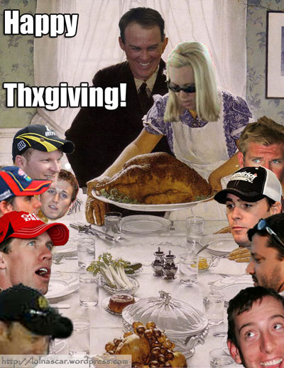 Join your favorite drivers for a very NASCAR Thanksgiving