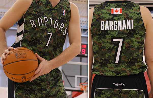 The Raptors unveil alternate, camouflage jerseys