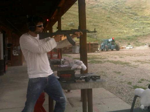 This is Gerard Pique firing an AK-47