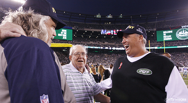 Rex Ryan left 'unflattering' voicemails for brother Rob after Jets' opening win