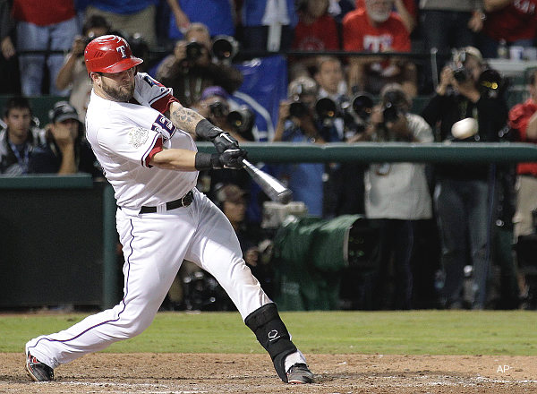 World Series Game 5: Napoli double breaks tie in game, Series