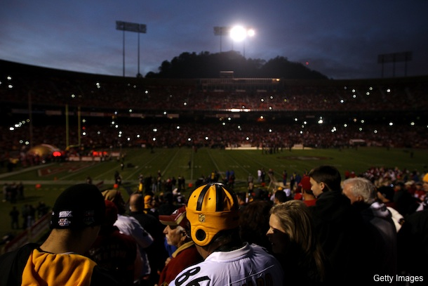 James Harrison knows why the lights went out at Candlestick