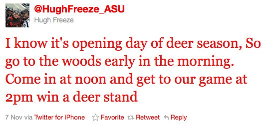 Come to an Arkansas State game, win a deer stand