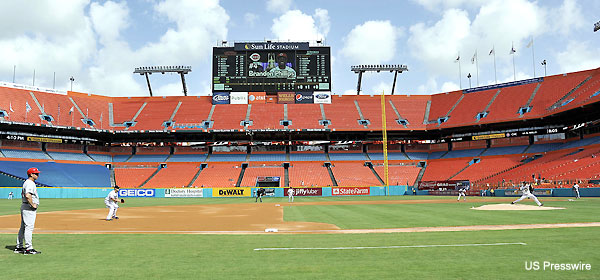 347 fans! Hurricane Irene wipes out Marlins attendance