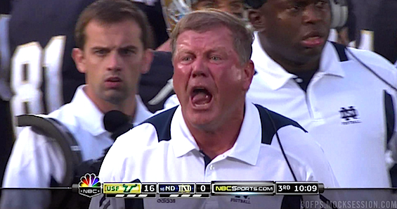 Is Brian Kelly too angry to be Notre Dame's head coach?