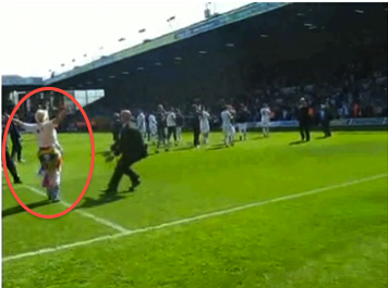 Leeds ban pitch-invading great grandmother