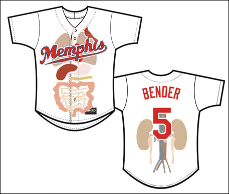 Must-see: Memphis Redbirds will wear 'organ-themed' uniforms