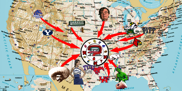 The Big 12 Expansion Wheel spins again: Where she stops, no one knows