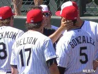 Carlos Gonzalez's career day ends with violent wall collision
