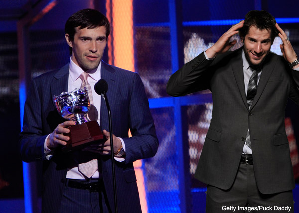 Which 2011 NHL Awards have the highest cringe factors?