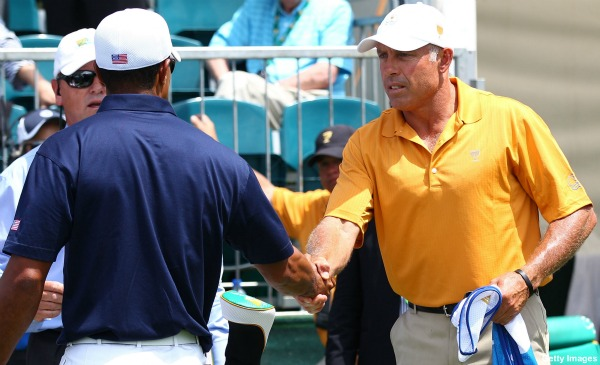 Tiger Woods and Steve Williams, The Handshake