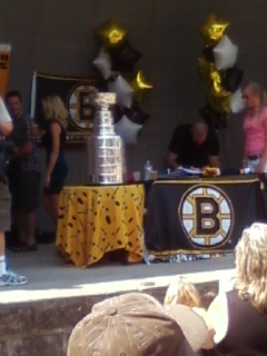 Where was the Stanley Cup on Nathan Horton's day?