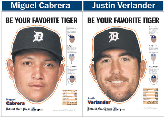 Fashion Ump: Detroit&#8217;s DIY Cabrera and Verlander masks