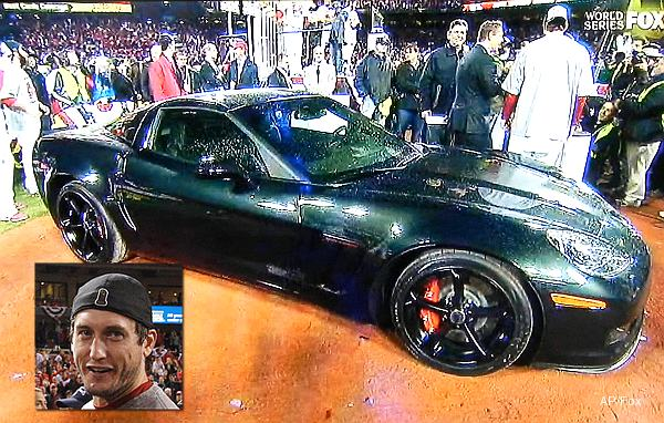David Freese wins World Series MVP, gets keys to Corvette as prize
