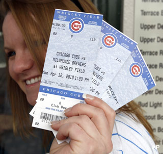 Not interested: Burglar elects to leave Cubs tickets behind