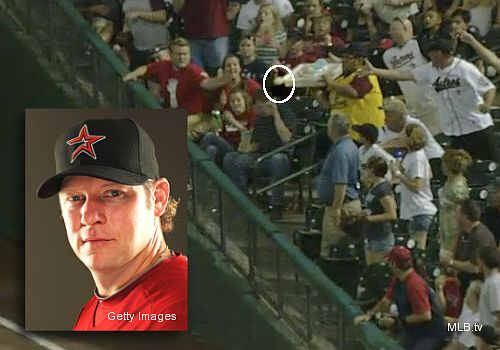 Cool: Houston's Jason Michaels hits 'snow cone double' into stands