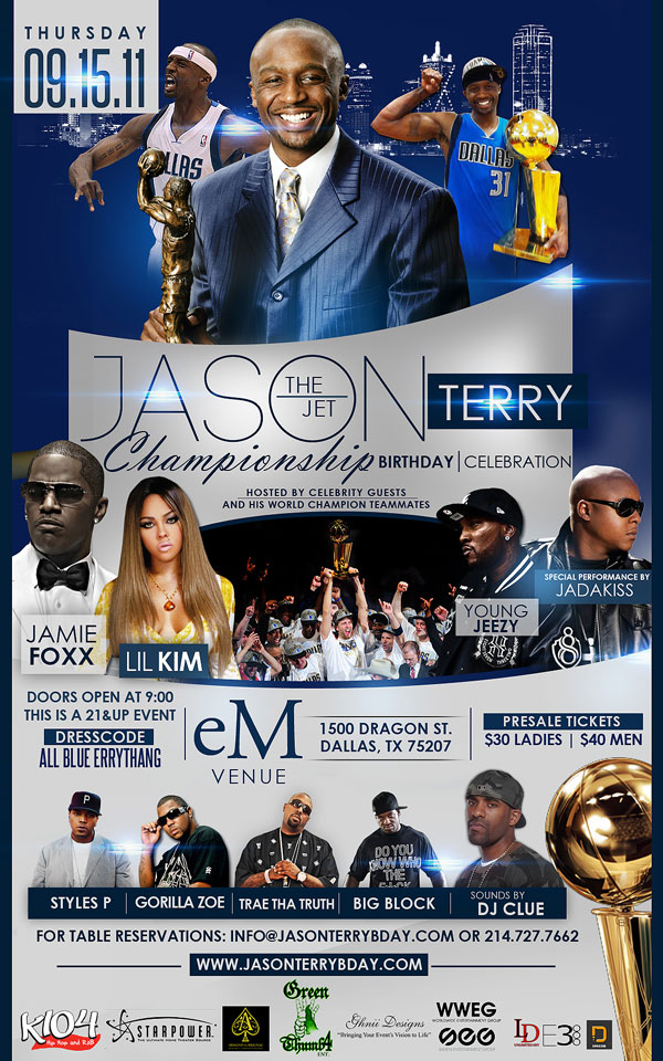 Jason Terry's upcoming 'championship birthday' celebration