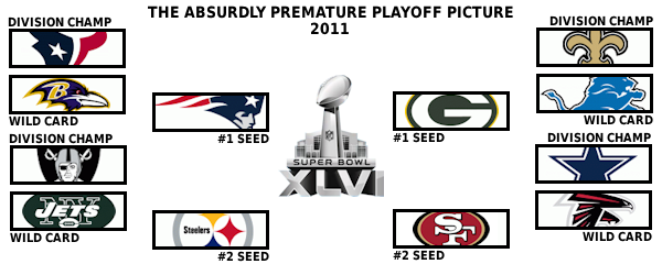 The absurdly premature 2011 playoff picture: Week 8