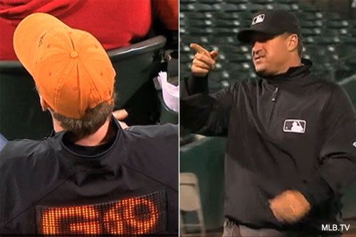 Lights out: Ump halts game, instructs fans to dim their clothing