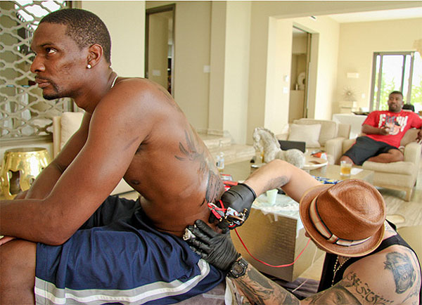 Chris Bosh's massive back tattoo