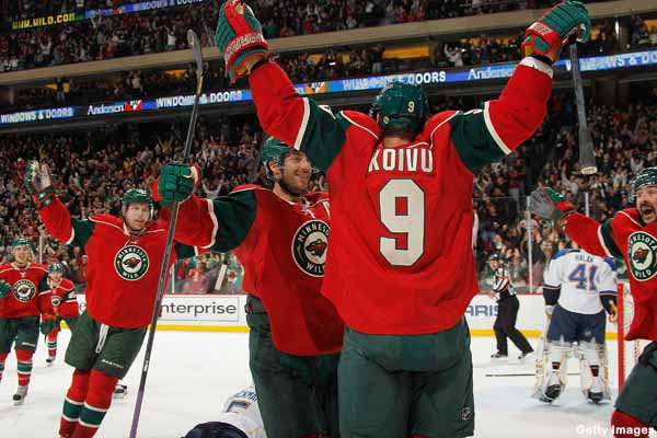 Have the Minnesota Wild arrived? No, they've returned