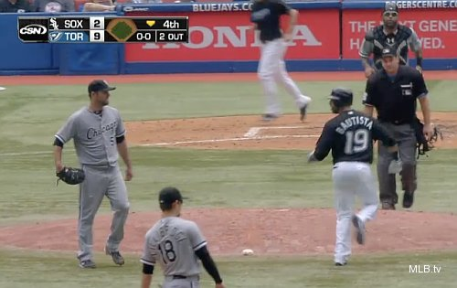 Danks, Bautista argue during pop-up, evoking 'unwritten rules' again