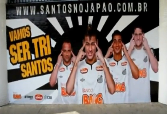 Santos players hold back their eyes for regrettable Japan trip ad