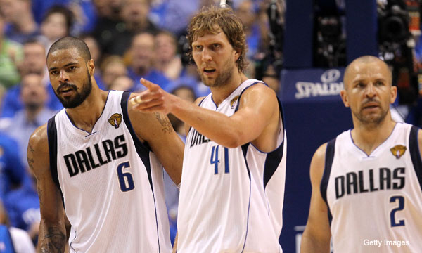 Dirk Nowitzki battles the flu, leads his Mavs to a Finals-tying win